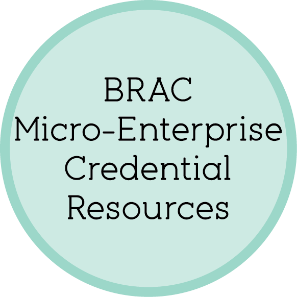 BRAC Micro-Enterprise Credential Resources